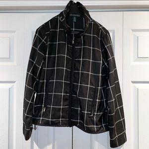 Ralph Lauren Active Black Plaid Jacket